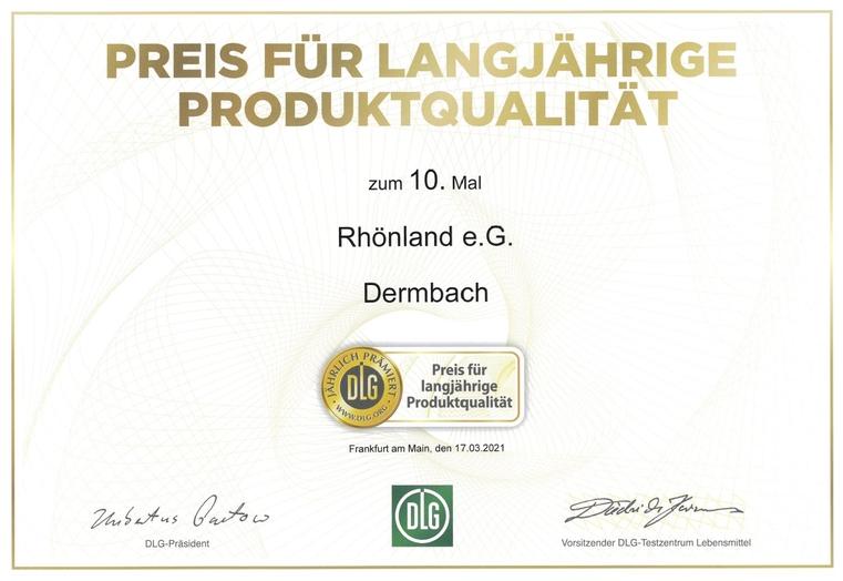 DLG-Preis für langjährige Produktqualität-2021